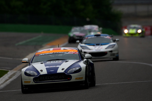 2014 Avon Tyres British GT Championship, Spa Francorchamps, Belgium. 11th - 12th July 2014. Jake Giddings / Ross Wylie Beechdean AMR Aston Martin GT4 Challenge. World Copyright: Ebrey / LAT Photographic.