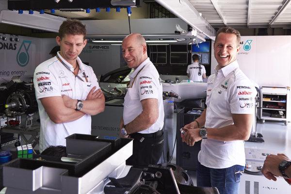 l Thursday 22nd November 2012. Michael Schumacher, Mercedes AMG.  World Copyright: Steve Etherington/c ref: Digital Image SNE28903 copy