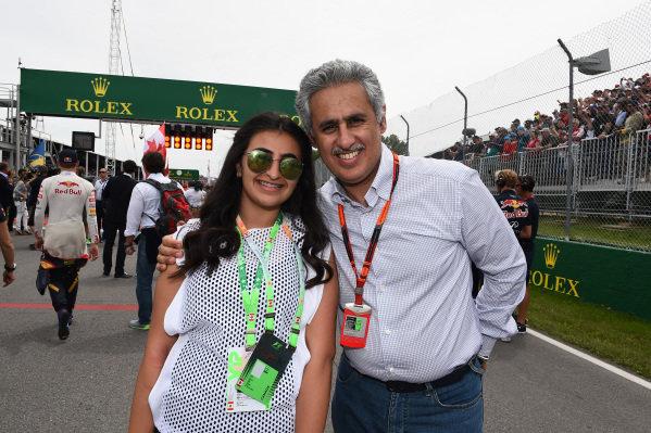 Zayed Al Zayani, Chairman Bahrain International Circuit on the grid at Formula One World Championship, Rd7, Canadian Grand Prix, Race, Montreal, Canada, Sunday 7 June 2015.