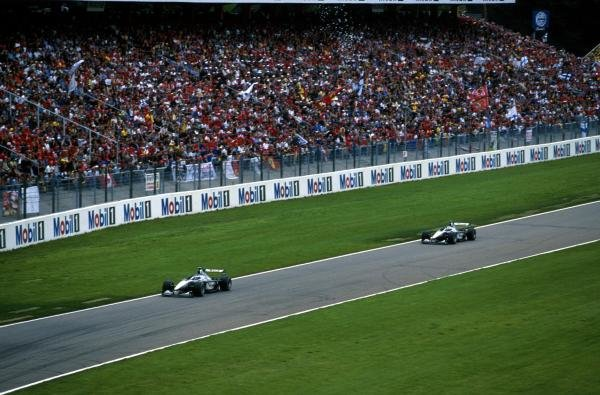 The two Mclaren MP4-15's led convincingly from the start German Grand Prix, Hockenheim, Germany, 30 July 2000