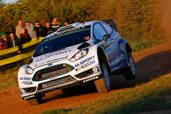 2015 World Rally Championship  Round 12, Rally of Spain, Catalunya 22nd - 25th October, 2015 Elfyn Evans, Ford, action  Worldwide Copyright: McKlein/LAT