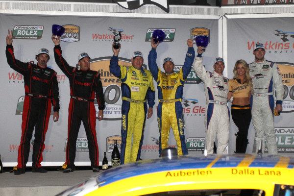 10-11 August, 2012, Watkins Glen, New York USAGT class podium finishers celebrate in victory lane.(c)2012, R D. EthanLAT Photo USA