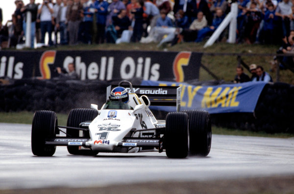 1983 European Grand Prix.Brands Hatch, Kent, Great Britain. 25 September 1983.Keke Rosberg (Williams FW08C-Ford Cosworth).World Copyright: LAT Photographic