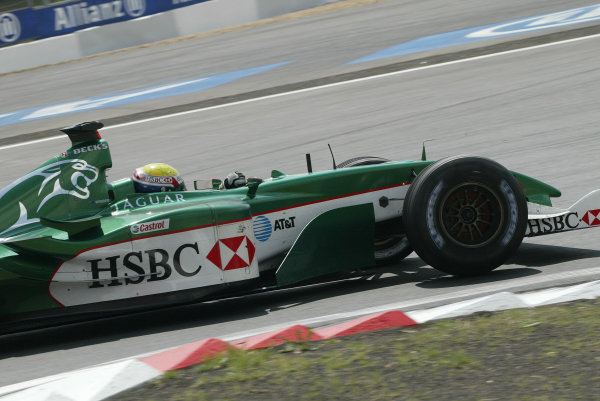 2003 European Grand Prix - Sunday Race,Nurburgring, Germany. 29th June 2003 Mark Webber, Jaguar R4, action.World Copyright: Steve Etherington/LAT Photographic ref: Digital Image Only