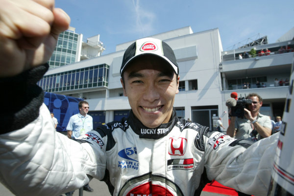 2004 European Grand Prix-Qualifying,Nurburgring, Germany.29th May 2004Takuma Sato, BAR Honda 006 takes second position in qualifying.World copyright: LAT Photographicref: Digital image only (a high res version is available on request)Eur_04_Sat_D067