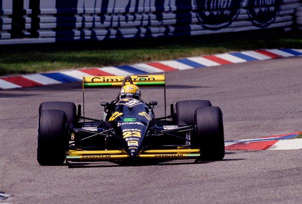 1988 German Grand Prix.Hockenheim, Germany.22-24 July 1988.Adrian Campos (Minardi M188 Ford).Ref-88 GER 20.World Copyright - LAT Photographic