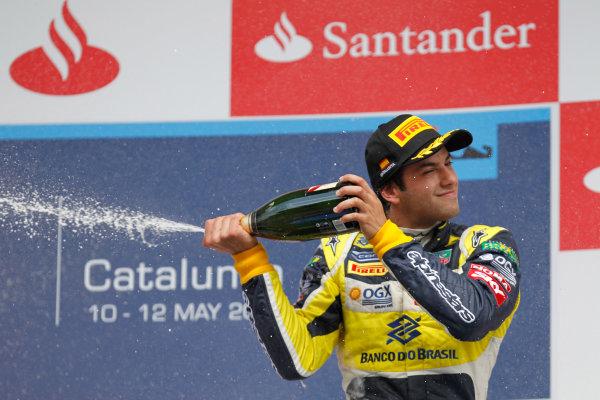 2013 GP2 Series. Round 3.  Circuit de Catalunya, Barcelona Spain. 12th May 2013. Sunday Race. Felipe Nasr (BRA, Carlin). World Copyright: Alastair Staley/GP2 Series Media Service. Ref: _A8C4253