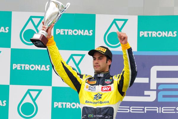 2013 GP2 Series. Round 1.  Sepang, Kuala Lumpur, Malaysia. 24th March 2013.  Sunday Race.  Felipe Nasr (BRA, Carlin).  World Copyright: Alastair Staley/GP2 Series Media Service.  ref: _A8C6265