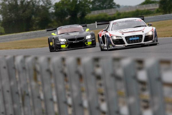 2013 British GT Championship, Snetterton, Norfolk. 15th - 16th June 2013. Mark Patterson / Matt Bell United Autosports Audi R8 LMS Ultra. World Copyright: Ebrey/LAT Photographic.