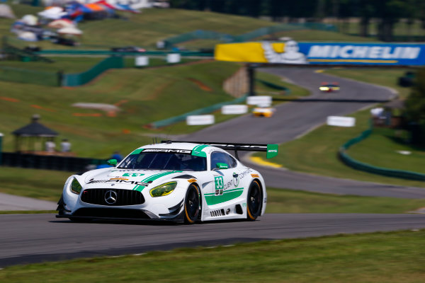IMSA WeatherTech SportsCar Championship Michelin GT Challenge at VIR Virginia International Raceway, Alton, VA USA Friday 25 August 2017 33, Mercedes, Mercedes AMG GT3, GTD, Ben Keating, Jeroen Bleekemolen World Copyright: Jake Galstad LAT Images