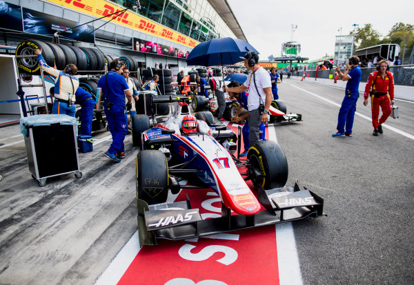 2017 FIA Formula 2 Round 9. Autodromo Nazionale di Monza, Monza, Italy. Friday 1 September 2017. Santino Ferrucci (USA, Trident).  Photo: Zak Mauger/FIA Formula 2. ref: Digital Image _56I6397