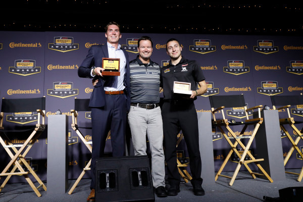 IMSA Continental Tire SportsCar Challenge Series Awards Banquet Road Atlanta, Braselton GA Friday 6 October 2017 Travis Roffler and Dillon MacHavern & Dylan Murcott with Championship ring World Copyright: Michael L. Levitt LAT Images