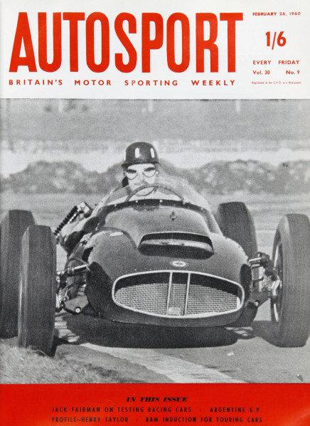 Cover of Autosport magazine, 26th February 1960