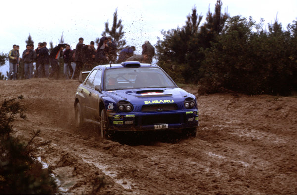 2001 World Rally Championship. Rally Portugal, Portugal. 8th-11th March 2001. Richard Burns in Subaru race action. World Copyright: McKlein / LAT Photographic. Ref: Portugal A16