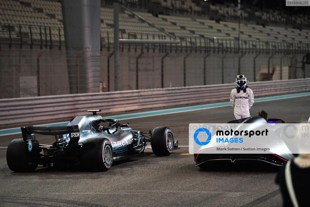 Valtteri Bottas, Mercedes-AMG F1 W09 EQ Power+ and Mercedes-Benz, EQ Silver Arrow concept car