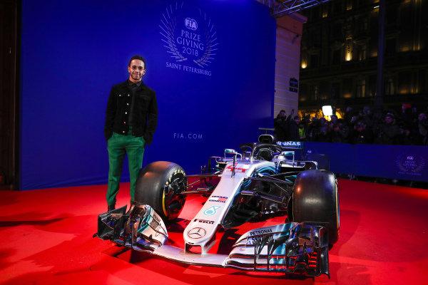 Lewis Hamilton with the Mercedes AMG F1 W09 EQ Power+