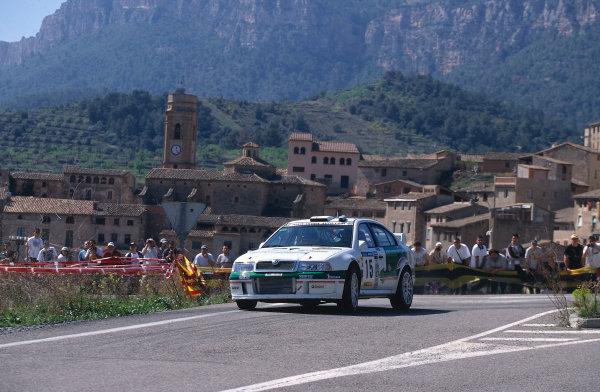 2002 World Rally ChampionshipRally Catalunya, Spain. 21st - 24th March 2002.Toni Gardemeister/Lukander, Skoda Octavia WRC, retired.World Copyright: McKlein/LAT Photographic.ref: 35mm Image 02 WRC 06