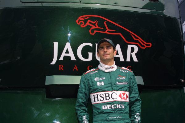 2001 Spanish Grand PrixCatalunya, Barcelona, Spain. 27-29 April 2001.Pedro de la Rosa (Jaguar).World Copyright - LAT Photographicref: 8 9 MB Digital File