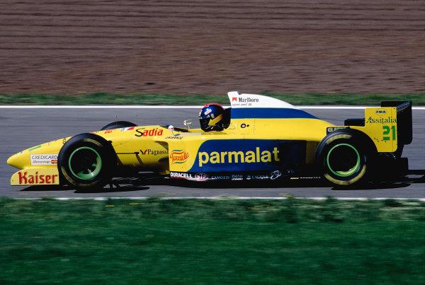 1995 Spanish Grand Prix.Catalunya, Barcelona, Spain. 12-14 May 1995.Pedro Diniz (Forti FG01-95 Ford).Ref-95 ESP 28.World Copyright - LAT Photographic