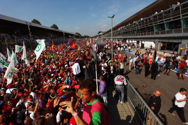 Fans invade the circuit and the pits. Formula One World Championship, Rd 14, Italian Grand Prix, Race, Monza, Italy, Sunday 12 September 2010.