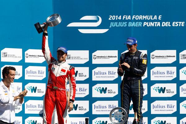 2014 Formula E  Punta Del Este e-Prix, Uruguay Saturday 13 December 2014. Nelson Piquet Jr (BRA)/China Racing - Spark-Renault SRT_01E  Photo: Sam Bloxham/LAT/Formula E ref: Digital Image _G7C6164