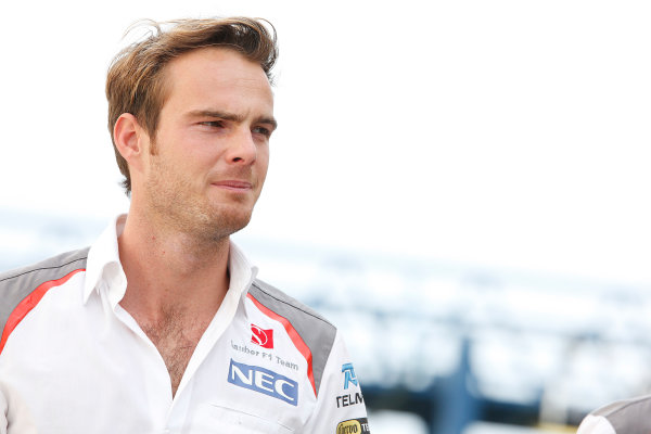 Interlagos, Sao Paulo, Brazil. Friday 7 November 2014. Giedo van der Garde, Test and Reserve Driver, Sauber. World Copyright: Charles Coates/LAT Photographic. ref: Digital Image _J5R3160