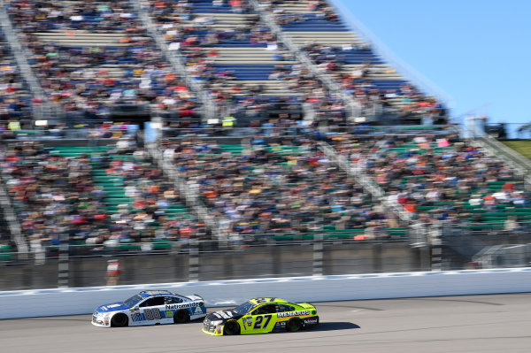 Monster Energy NASCAR Cup Series Hollywood Casino 400 Kansas Speedway, Kansas City, KS USA Sunday 22 October 2017 Dale Earnhardt Jr, Hendrick Motorsports, Nationwide Chevrolet SS, Paul Menard, Richard Childress Racing, Richmond/Menards Chevrolet SS World Copyright: John K Harrelson LAT Images