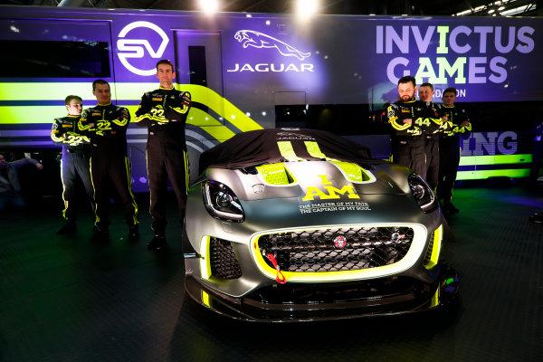 Autosport International Exhibition. National Exhibition Centre, Birmingham, UK. Thursday 11th January 2017. The Invictus Games Jaguar F-Type GT4 launch.World Copyright: Glenn Dunbar/LAT Images Ref: _31I2346