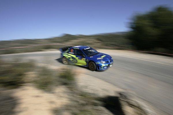 2006 FIA World Rally Champs. Round four Rally Catalunya Spain. 24-26th March 2006Stephane Sarrazin, Subaru, action.World Copyright: Mcklein/LAT