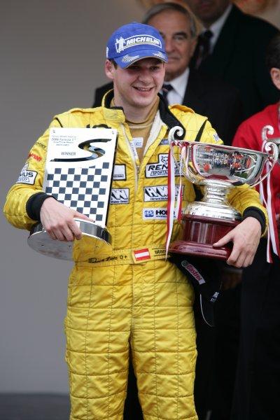 2006 Monaco Grand Prix - Porsche SupercupMonte Carlo, Monaco. 23rd - 28th May.Richard Lietz on the podium. Portrait.World Copyright: Michael Cooper/LAT Photographicref: Digital Image VI5L9281