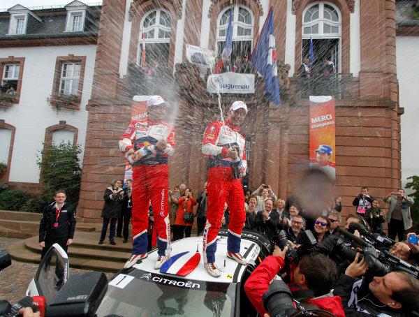 Round 11, Rallye de France 20124th - 7th October 2012SŽbastien Loeb, Daniel Elena, Citroen, celebrationWorldwide Copyright: McKlein/LAT