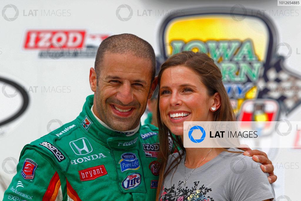 19-20, June 2010, Newton, Iowa, USATony Kanaan poses with girlfriend Lauren Bohlander.©2010, Phillip Abbott, USALAT Photographic
