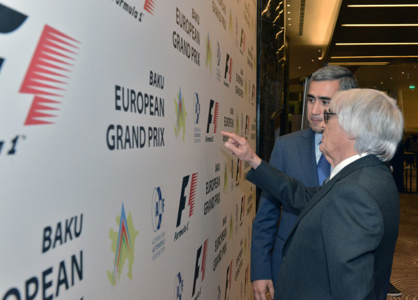 Bernie Ecclestone (GBR) CEO Formula One Group (FOM) and Anar Alakbarov (AZ) Executive Director of the Heydar Aliyev Foundation and President of Azerbaijan Automobile Foundation.