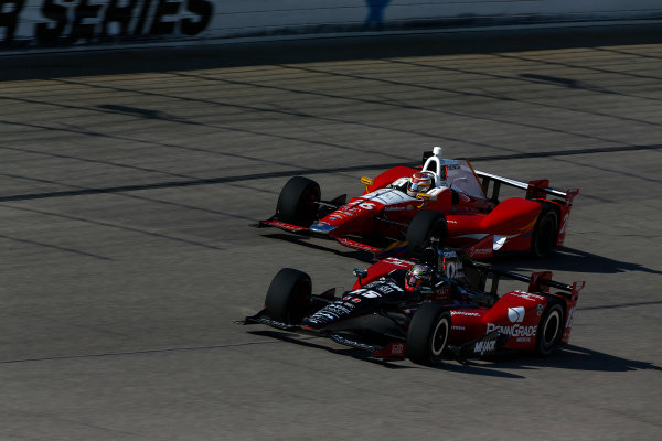 10-11 June, 2016, Fort Worth, Texas USA Graham Rahal, Carlos Munoz ?2016, Phillip Abbott LAT Photo USA