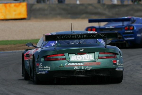 Vincent Vosse (BEL) / Pedro Lamy (POR) / Gabriele Gardel (SUI) Aston Martin Racing Larbre Aston Martin DBR9.Le Mans Series, Rd4, Donington Park, England, 28 August 2006.DIGITAL IMAGE