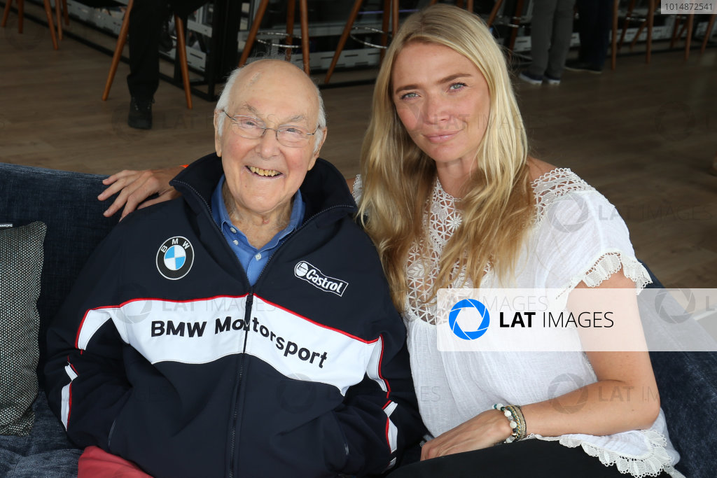 2017 Goodwood Festival of Speed. Goodwood Estate, West Sussex, England. 30th June - 2nd July 2017. Murray Walker and Jodie Kidd World Copyright : JEP/LAT Images