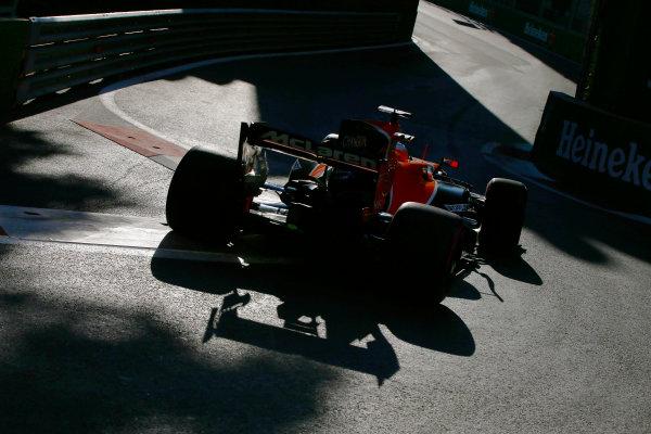 Baku City Circuit, Baku, Azerbaijan. Friday 23 June 2017. Fernando Alonso, McLaren MCL32 Honda. World Copyright: Andy Hone/LAT Images ref: Digital Image _ONY9115