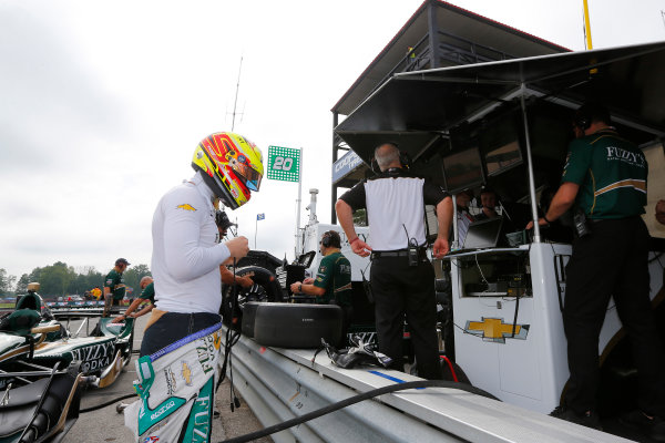 Verizon IndyCar Series Honda Indy 200 at Mid-Ohio Mid-Ohio Sports Car Course, Lexington, OH USA Friday 28 July 2017 Spencer Pigot, Ed Carpenter Racing Chevrolet World Copyright: Phillip Abbott LAT Images ref: Digital Image abbott_midohio_0717_0007