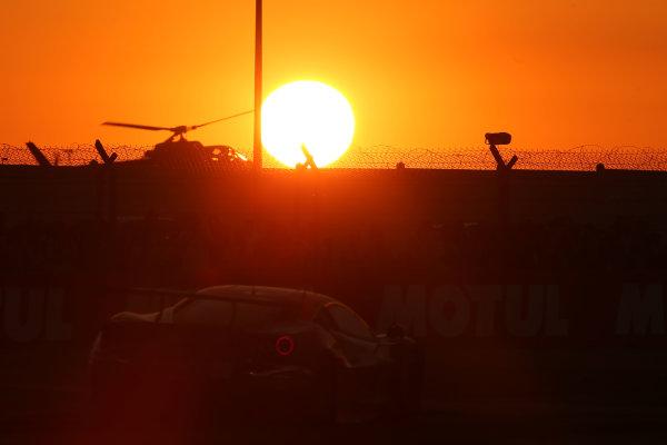 2017 Le Mans 24 Hours Circuit de la Sarthe, Le Mans, France. Thursday 15 June 2017 #61 Clearwater Racing Ferrari 488 GTE: Weng Sun Mok, Keita Sawa, Matt Griffin  World Copyright: JEP/LAT Images