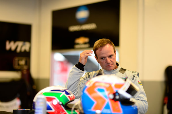 28-31  January, 2016, Daytona Beach, Florida USA 10, Chevrolet, Corvette DP, P, Rubens Barrichello in the Wayne Taylor Racing garage. ©2016, Richard Dole LAT Photo USA