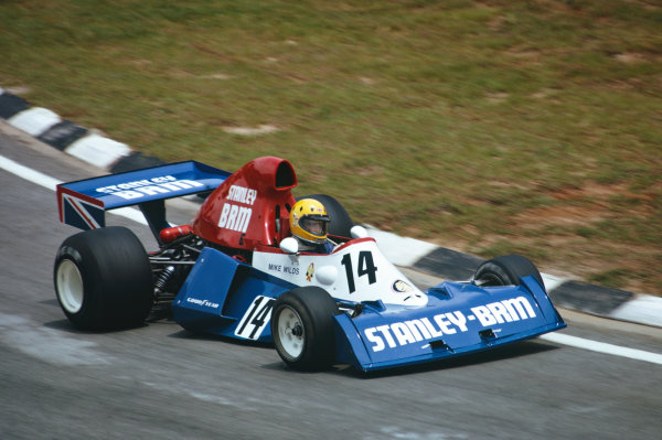 1975 Brazilian Grand Prix  Interlagos, Sao Paulo, Brazil. 24-26th January 1975.  Mike Wilds, BRM P201, retired.  Ref: 75BRA15. World copyright: LAT Photographic