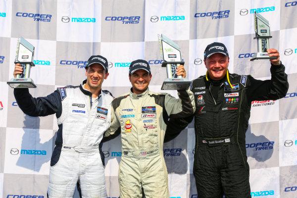 28-29 August 2015, Alton, Virginia USA IMSA Lites, Race 2, L2 Podium ?2015, Jake Galstad LAT Photo USA