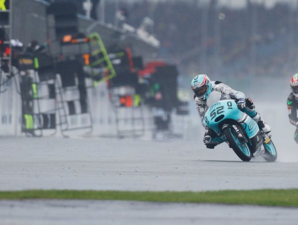 2015 Moto3 Championship.  British Grand Prix.  Silverstone, England. 28th - 30th August 2015.  Danny Kent, Honda.  Ref: KW7_8479a. World copyright: Kevin Wood/LAT Photographic