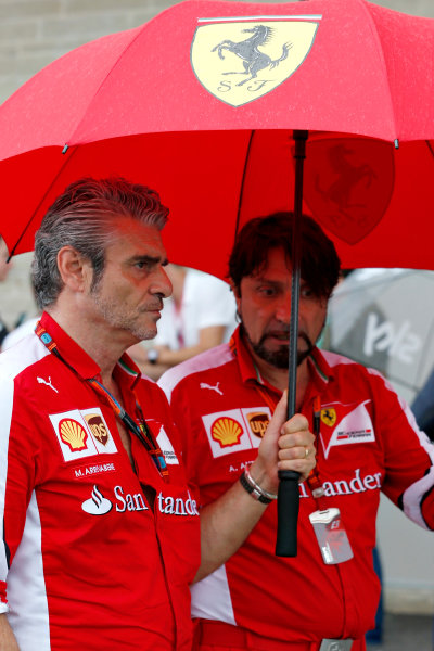Circuit of the Americas, Austin, Texas, United States of America.  Friday 23 October 2015. Mauricio Arrivabene, Team Principal, Ferrari, in the Paddock. World Copyright: Charles Coates/LAT Photographic ref: Digital Image _N7T6118