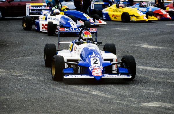 1996 Formula Vauxhall Championship. Justin Wilson, Paul Stewart Racing, action.  World Copyright: LAT Photographic.