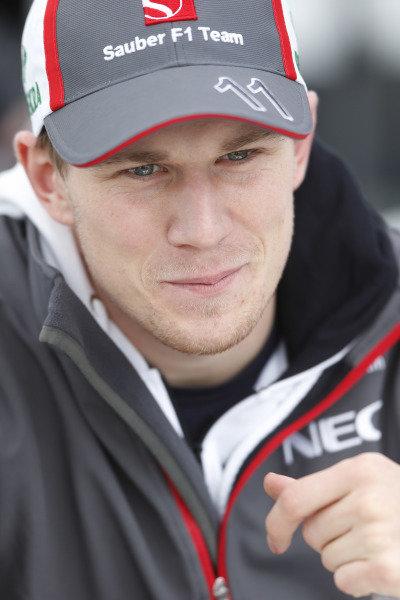8th June 2013 Nico Hulkenberg, Sauber F1 World Copyright: Charles Coates/  ref: Digital Image _N7T6052