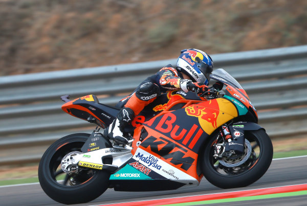 2017 Moto2 Championship - Round 14 Aragon, Spain. Friday 22 September 2017 Miguel Oliveira, Red Bull KTM Ajo World Copyright: Gold and Goose / LAT Images ref: Digital Image 693617