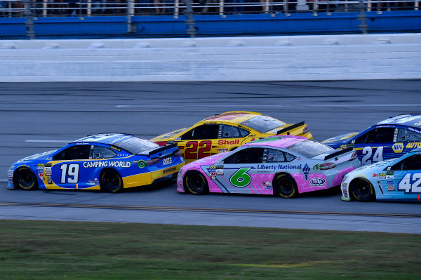 Monster Energy NASCAR Cup Series Alabama 500 Talladega Superspeedway Talladega, AL USA Sunday 15 October 2017 Daniel Suarez, Joe Gibbs Racing, Camping World Toyota Camry, Joey Logano, Team Penske, Shell Pennzoil Ford Fusion, Trevor Bayne, Roush Fenway Racing, Liberty National Ford Fusion World Copyright: Rusty Jarrett LAT Images