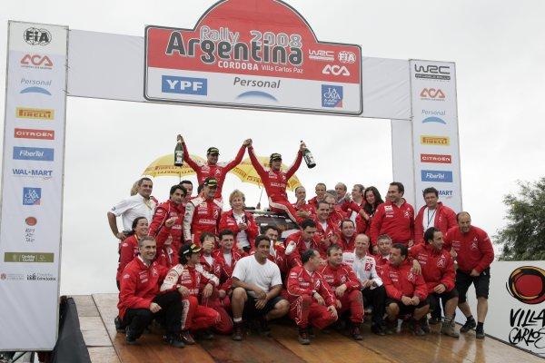 2008 FIA World Rally ChampionshipRound 04Rally Argentina 27-30 of MarchSebsatien Loeb, Citroen, PodiumWorldwide Copyright: McKlein/LAT