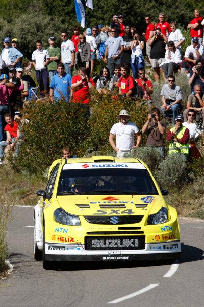 Round 11, Rally of Spain, Catalunya2nd-5th October 2008Toni Gardemeister, Suzuki, actionWorldwide Copyright: McKlein/LAT
